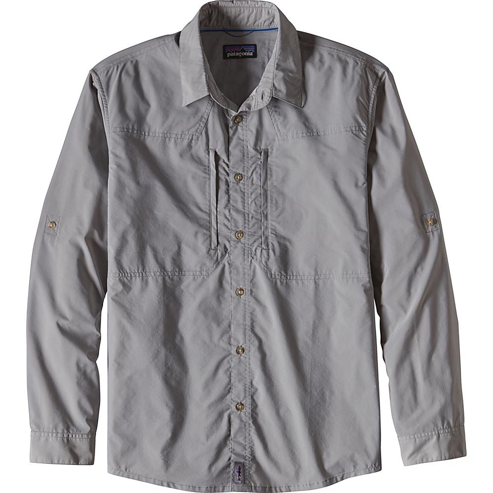 Patagonia Mens Long-Sleeved Sun Stretch Shirt 2XL - Drifter Grey - Patagonia Mens Apparel - Apparel & Footwear, Men's Apparel