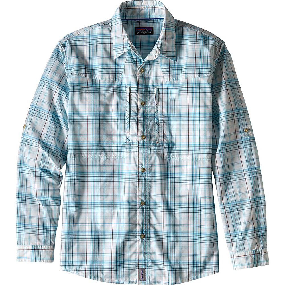 Patagonia Mens Long-Sleeved Sun Stretch Shirt XL - Pelagic: Radar Blue - Patagonia Mens Apparel - Apparel & Footwear, Men's Apparel