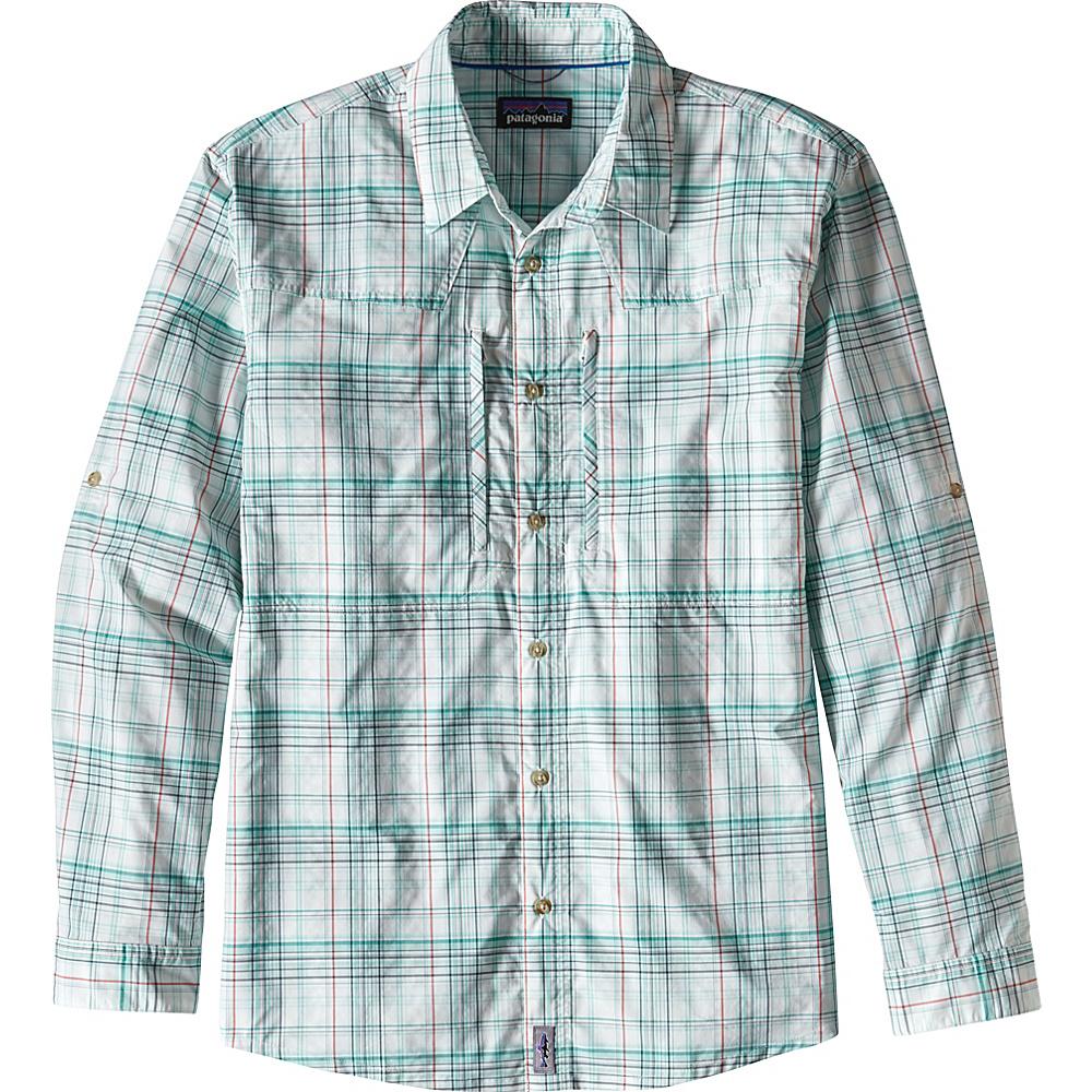 Patagonia Mens Long-Sleeved Sun Stretch Shirt L - Pelagic: Bend Blue - Patagonia Mens Apparel - Apparel & Footwear, Men's Apparel