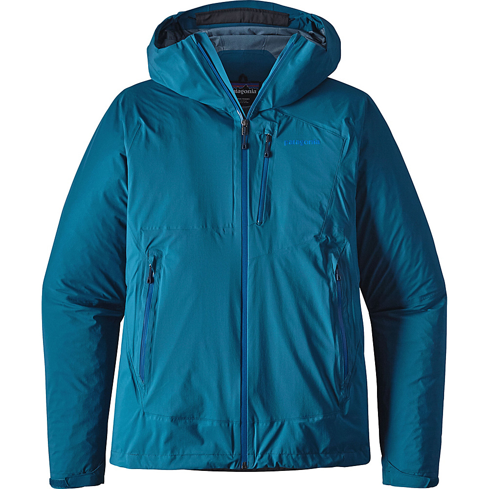 Patagonia Mens Stretch Rainshadow Jacket L - Big Sur Blue - Patagonia Mens Apparel - Apparel & Footwear, Men's Apparel