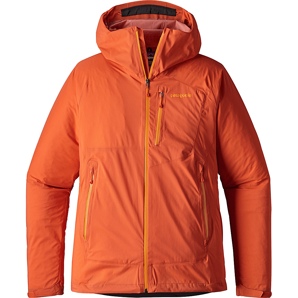 Patagonia Mens Stretch Rainshadow Jacket M - Campfire Orange - Patagonia Mens Apparel - Apparel & Footwear, Men's Apparel