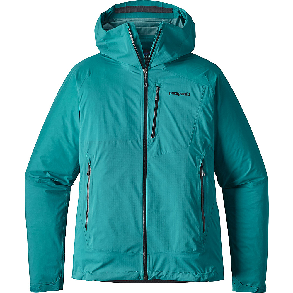 Patagonia Mens Stretch Rainshadow Jacket L - True Teal - Patagonia Mens Apparel - Apparel & Footwear, Men's Apparel