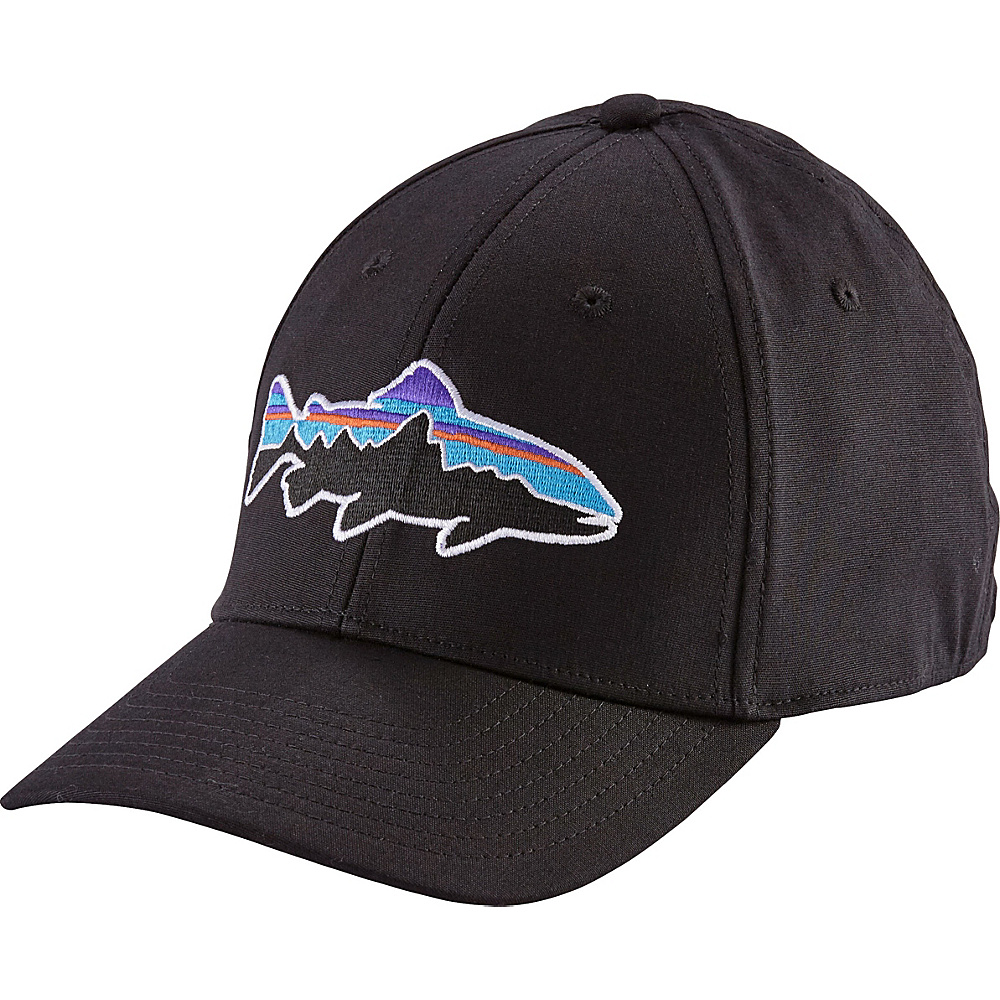 Patagonia Fitz Roy Trout Stretch Fit Hat S/M - Black - Patagonia Hats/Gloves/Scarves - Fashion Accessories, Hats/Gloves/Scarves