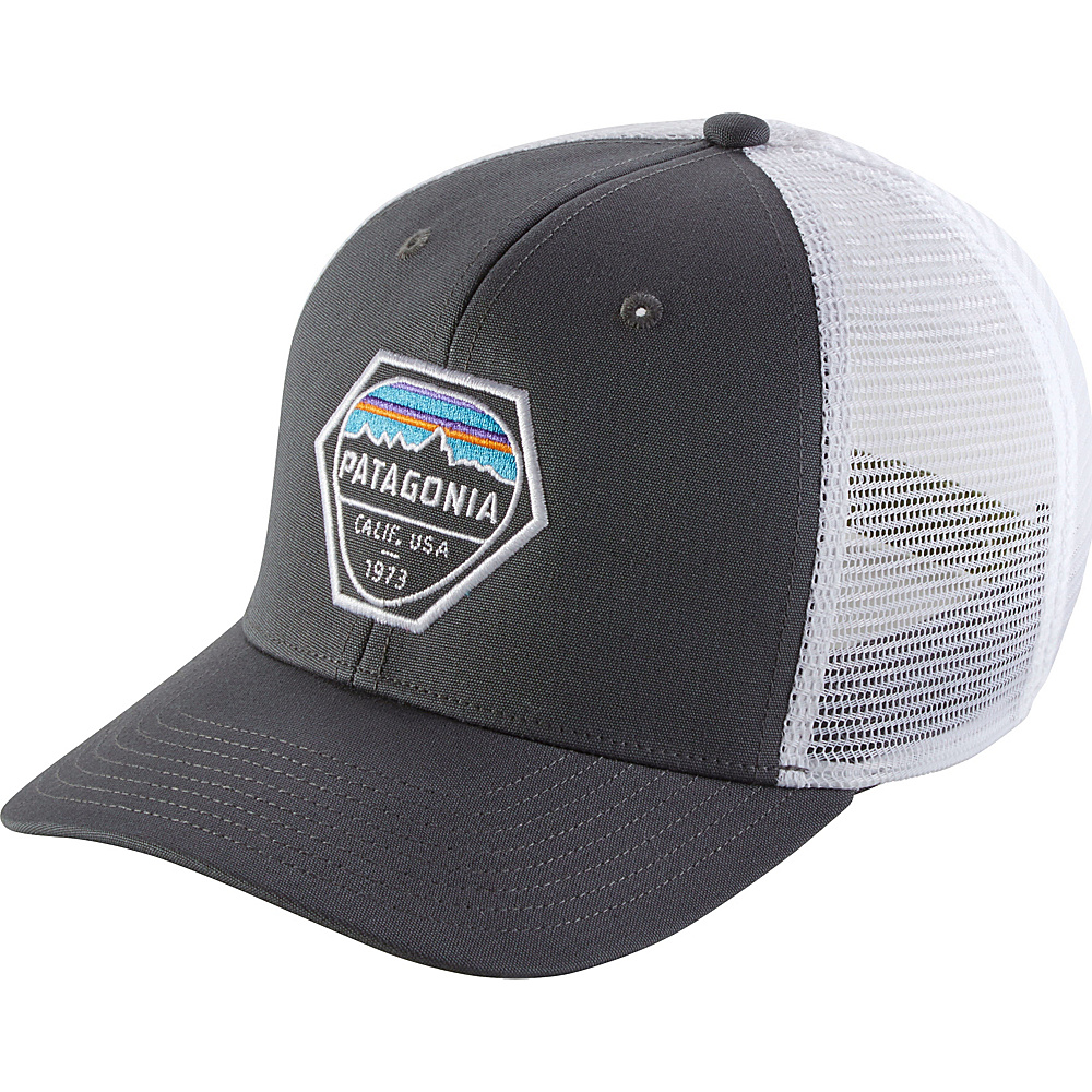 Patagonia Fitz Roy Hex Trucker Hat One Size - Forge Grey - Patagonia Hats/Gloves/Scarves - Fashion Accessories, Hats/Gloves/Scarves