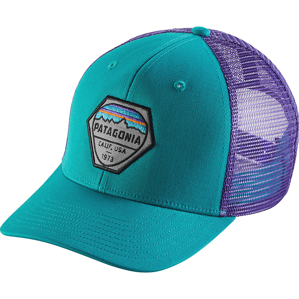 Patagonia Fitz Roy Hex Trucker Hat One Size - True Teal - Patagonia Hats/Gloves/Scarves - Fashion Accessories, Hats/Gloves/Scarves