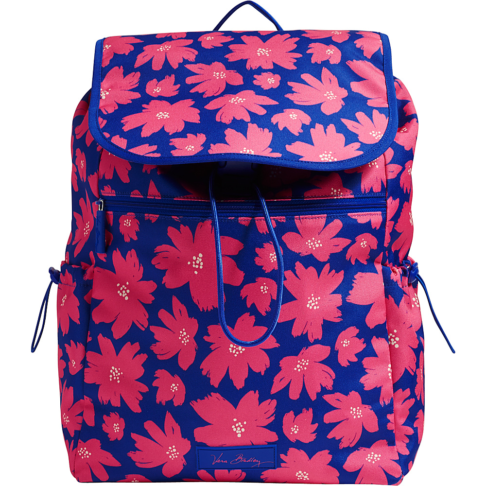 Vera Bradley Lighten Up Drawstring Backpack Retired Prints Art Poppies Vera Bradley Fabric Handbags