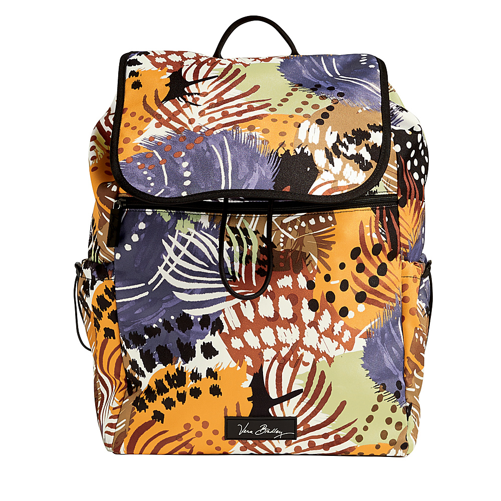 Vera Bradley Lighten Up Drawstring Backpack-Retired Prints Painted Feathers - Vera Bradley Fabric Handbags - Handbags, Fabric Handbags