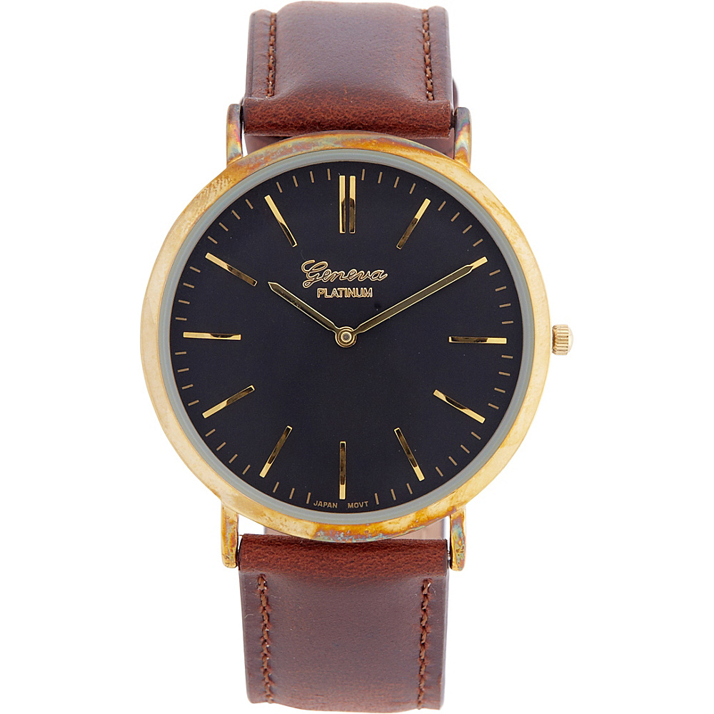 Samoe Leather Band Watch Brown Samoe Watches