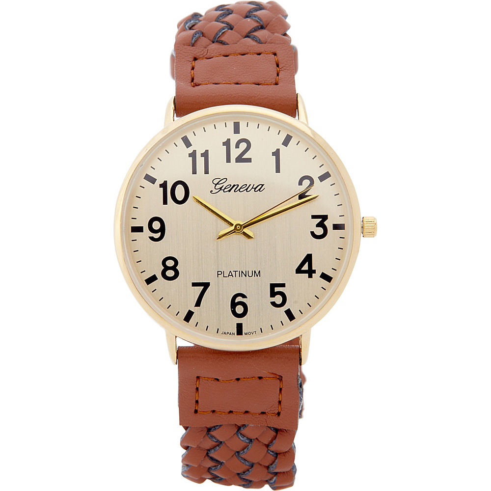 Samoe Braided Band Watch Brown Samoe Watches