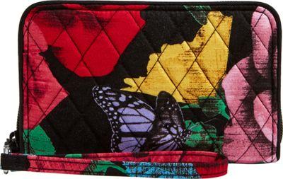 Vera Bradley RFID Grab & Go Wristlet-Retired Prints Havana Rose - Vera Bradley Women's Wallets