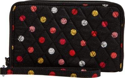 Vera Bradley RFID Grab & Go Wristlet-Retired Prints Havana Dots - Vera Bradley Women's Wallets