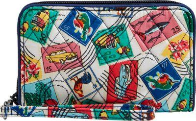 Vera Bradley RFID Grab & Go Wristlet-Retired Prints Cuban Stamps - Vera Bradley Women's Wallets
