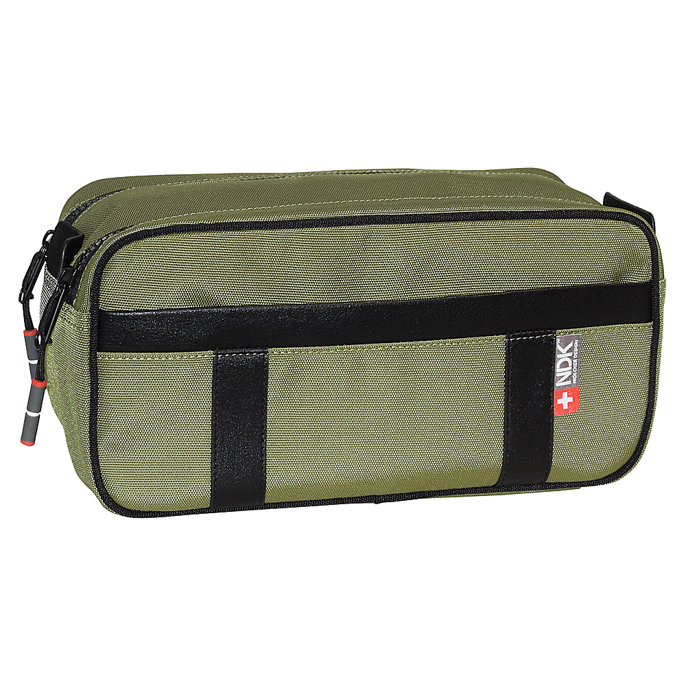 Nidecker Design Capital Collection Double Zip Travel Kit Moss Nidecker Design Toiletry Kits