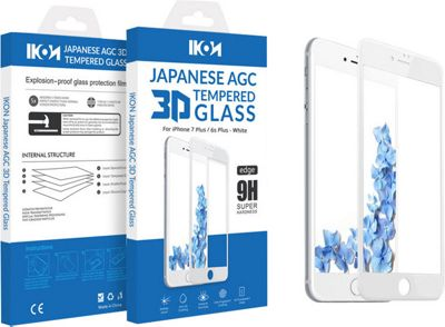 IKON Japanese AGC 3D Tempered Glass For iPhone 7/6S (5.5) White - IKON Electronic Cases