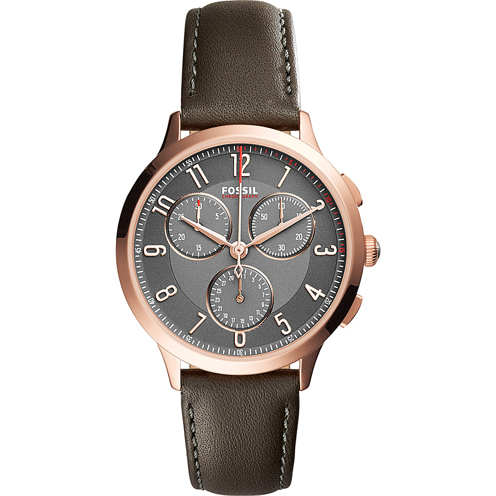 Fossil Abilene Multifunction Leather Watch Grey - Fossil Watches - Fashion Accessories, Watches
