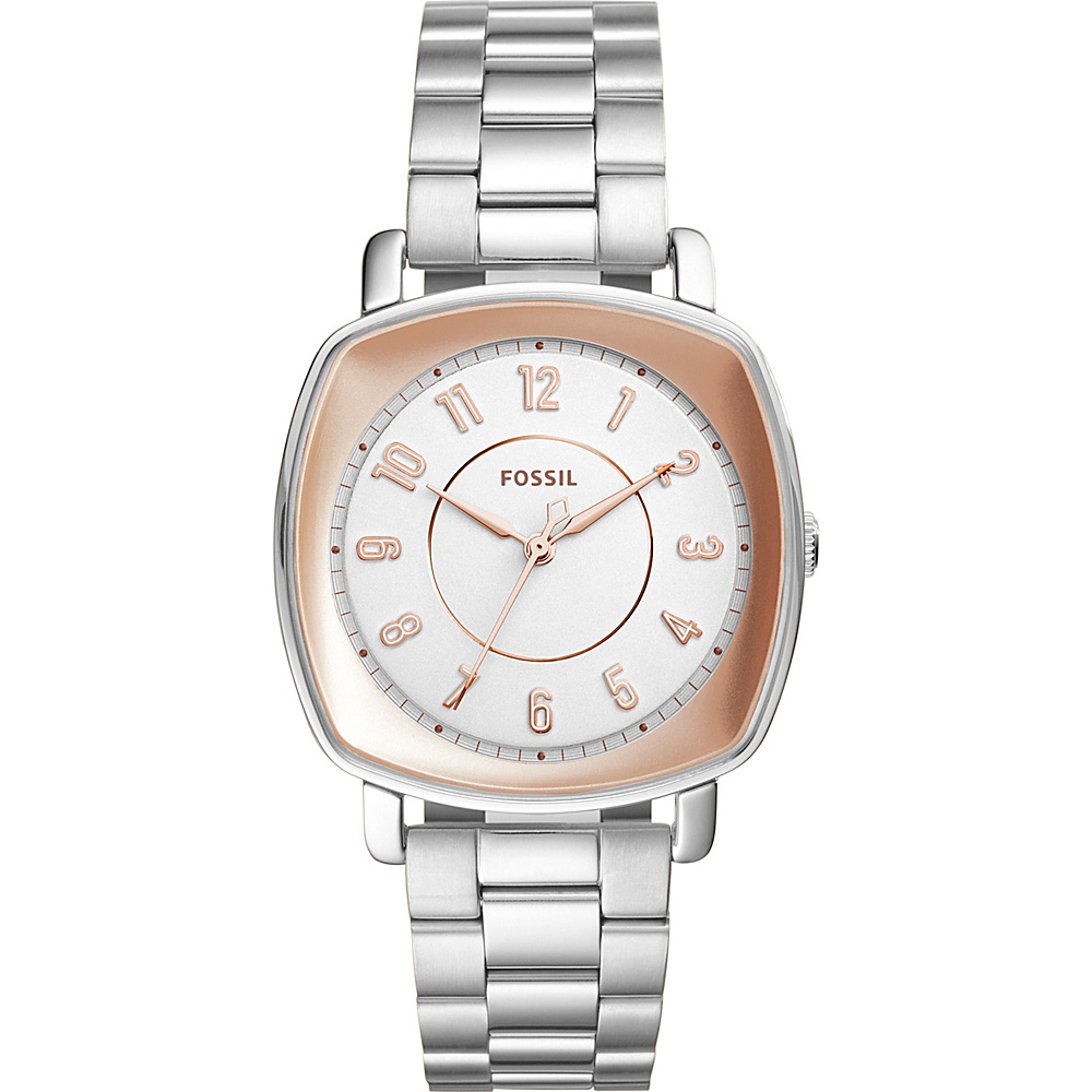 Fossil Idealist 3-Hand Stainless Steel Watch Silver - Fossil Watches - Fashion Accessories, Watches