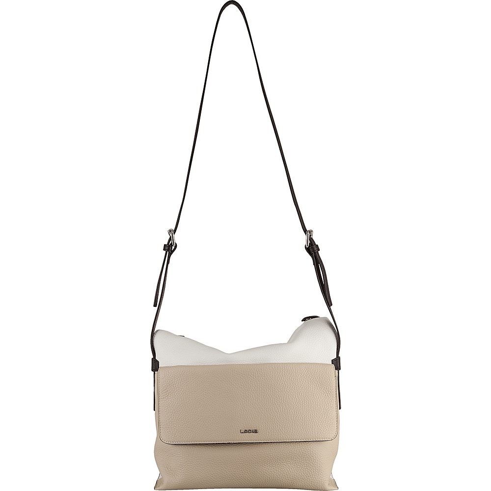 Lodis Valencia Laken Convertible Hobo Cream - Lodis Leather Handbags - Handbags, Leather Handbags