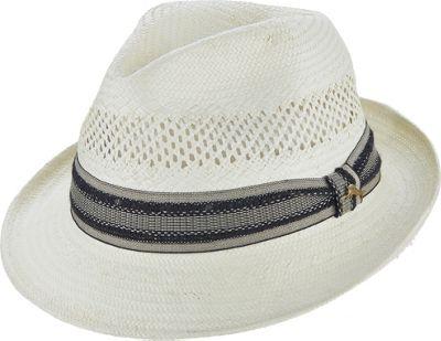 Tommy Bahama Headwear Vent Toyo Fedora S/M - Ivory-L/XL - Tommy Bahama Headwear Hats