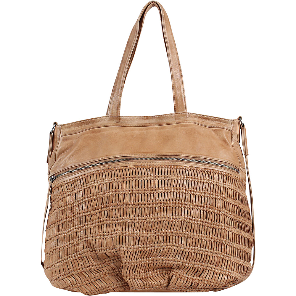 Day Mood Alma Tote Camel Day Mood Leather Handbags