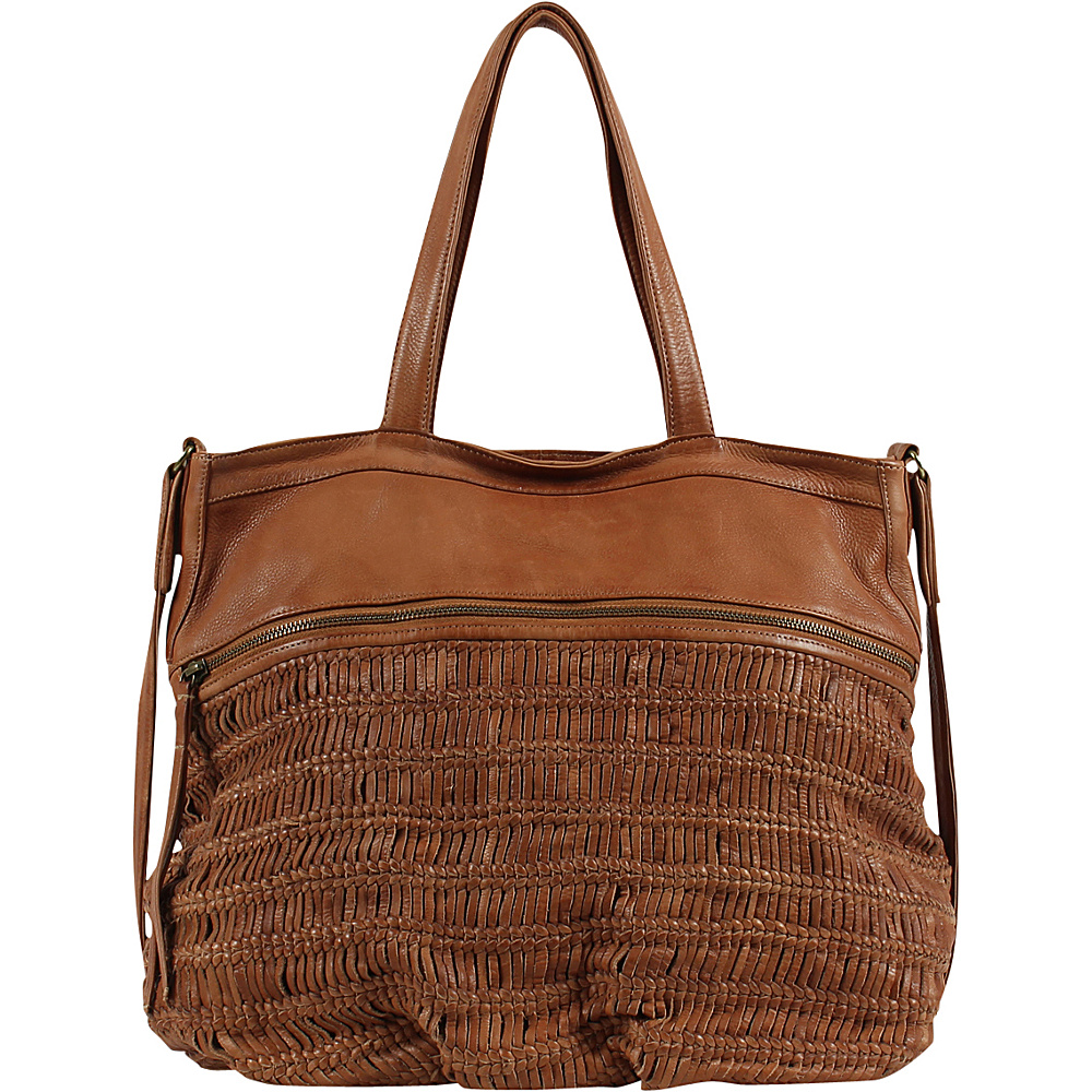 Day Mood Alma Tote Cognac Day Mood Leather Handbags