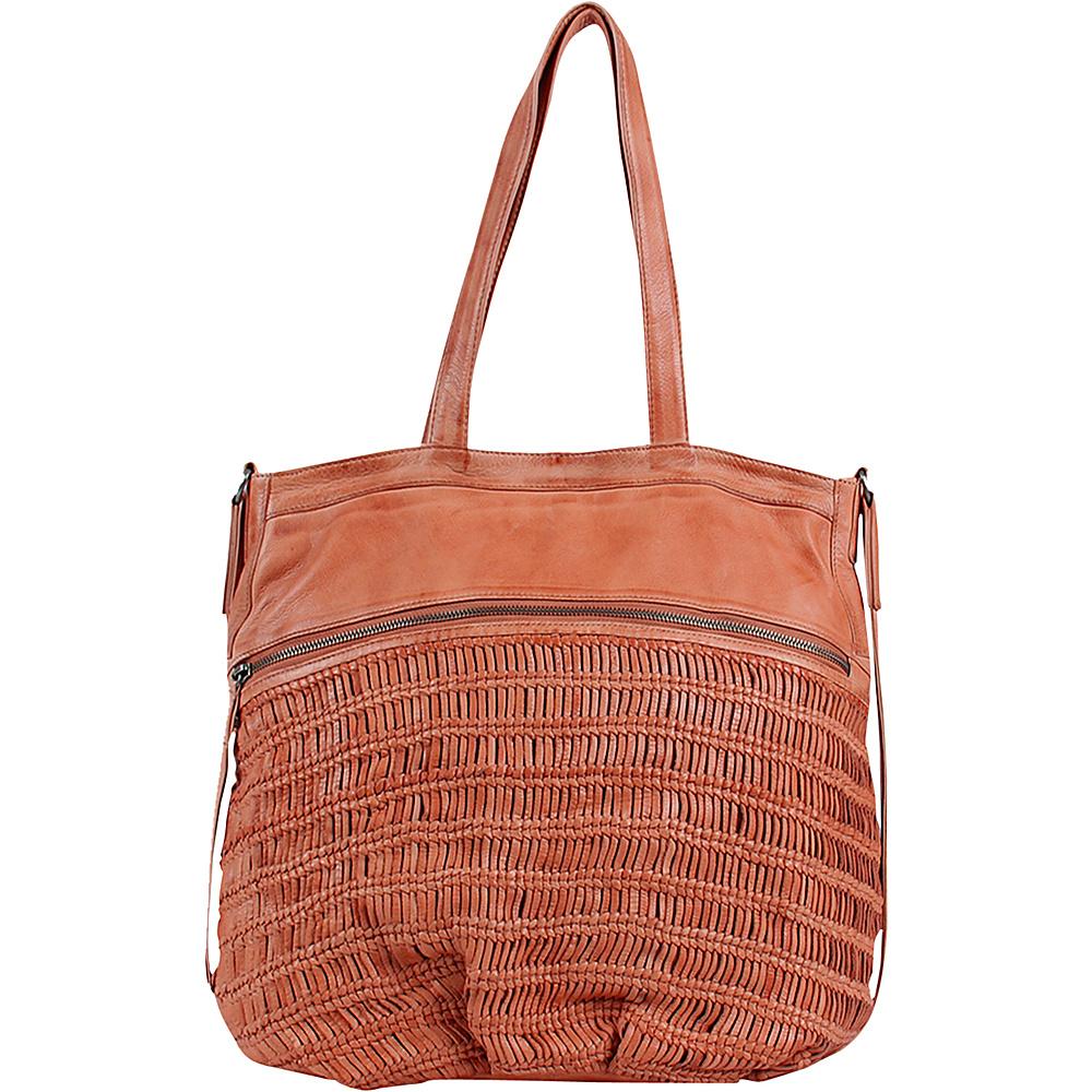 Day Mood Alma Tote Peach Day Mood Leather Handbags