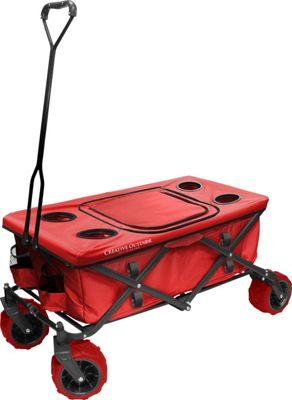 Creative Outdoor Fold Wagon All Terrain Table Red - Creative Outdoor Outdoor Accessories