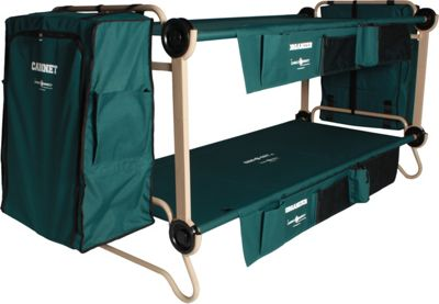 Disc-O-Bed CamOBunk Xlarge 2 organizers 2 Cabinets 2 Large Extensions Green - Disc-O-Bed Outdoor Accessories