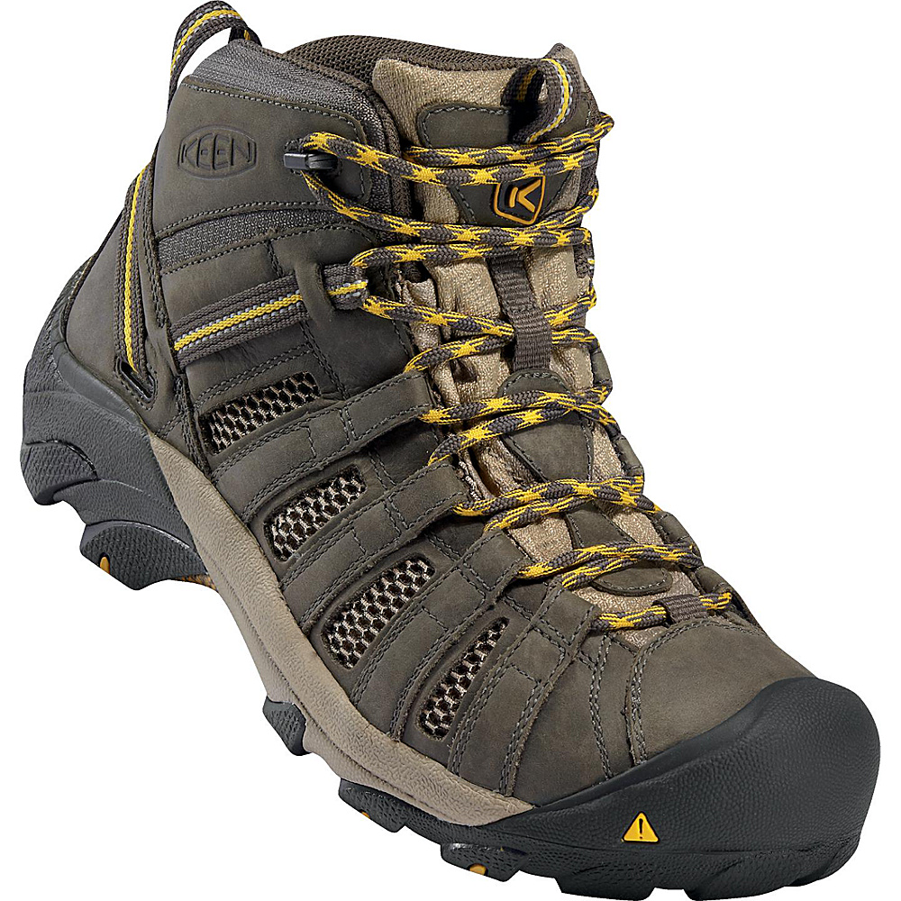 KEEN Mens Voyageur Mid Boot 7 - Raven/Tawny Olive - KEEN Mens Footwear - Apparel & Footwear, Men's Footwear