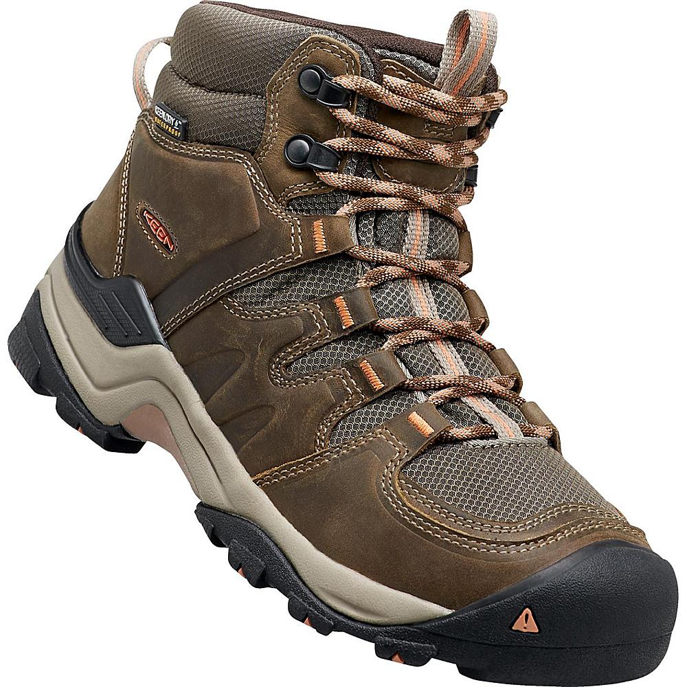 KEEN Womens Gypsum II Mid Waterproof Boot 8 - Cornstock/Gold Coral - KEEN Womens Footwear - Apparel & Footwear, Women's Footwear