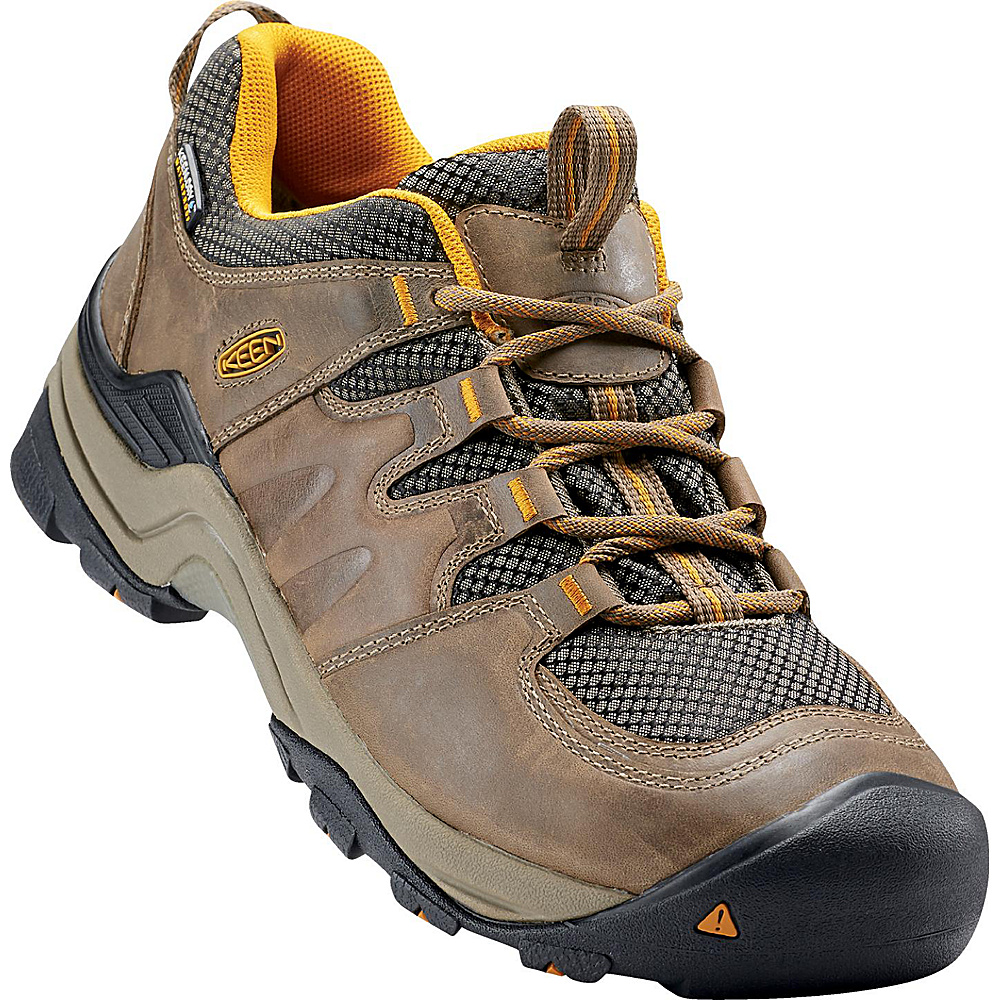 KEEN Mens Gypsum II Waterproof Boot 10.5 - Shitake/Golden Yellow - KEEN Mens Footwear - Apparel & Footwear, Men's Footwear