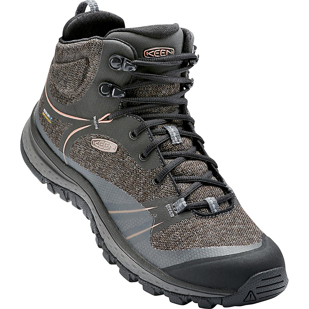 KEEN Womens Terradora Mid Waterproof Boot 9.5 - Raven/Rose Dawn - KEEN Womens Footwear - Apparel & Footwear, Women's Footwear