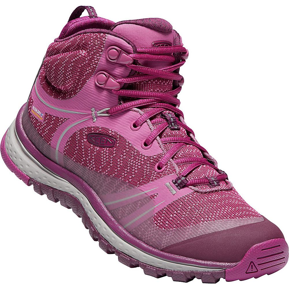 KEEN Womens Terradora Mid Waterproof Boot 9 - Boysenberry/Grape Wine - KEEN Womens Footwear - Apparel & Footwear, Women's Footwear