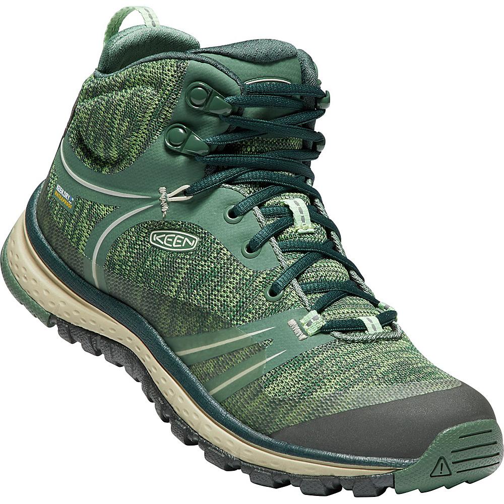 KEEN Womens Terradora Mid Waterproof Boot 9.5 - Duck Green/Quiet Green - KEEN Womens Footwear - Apparel & Footwear, Women's Footwear