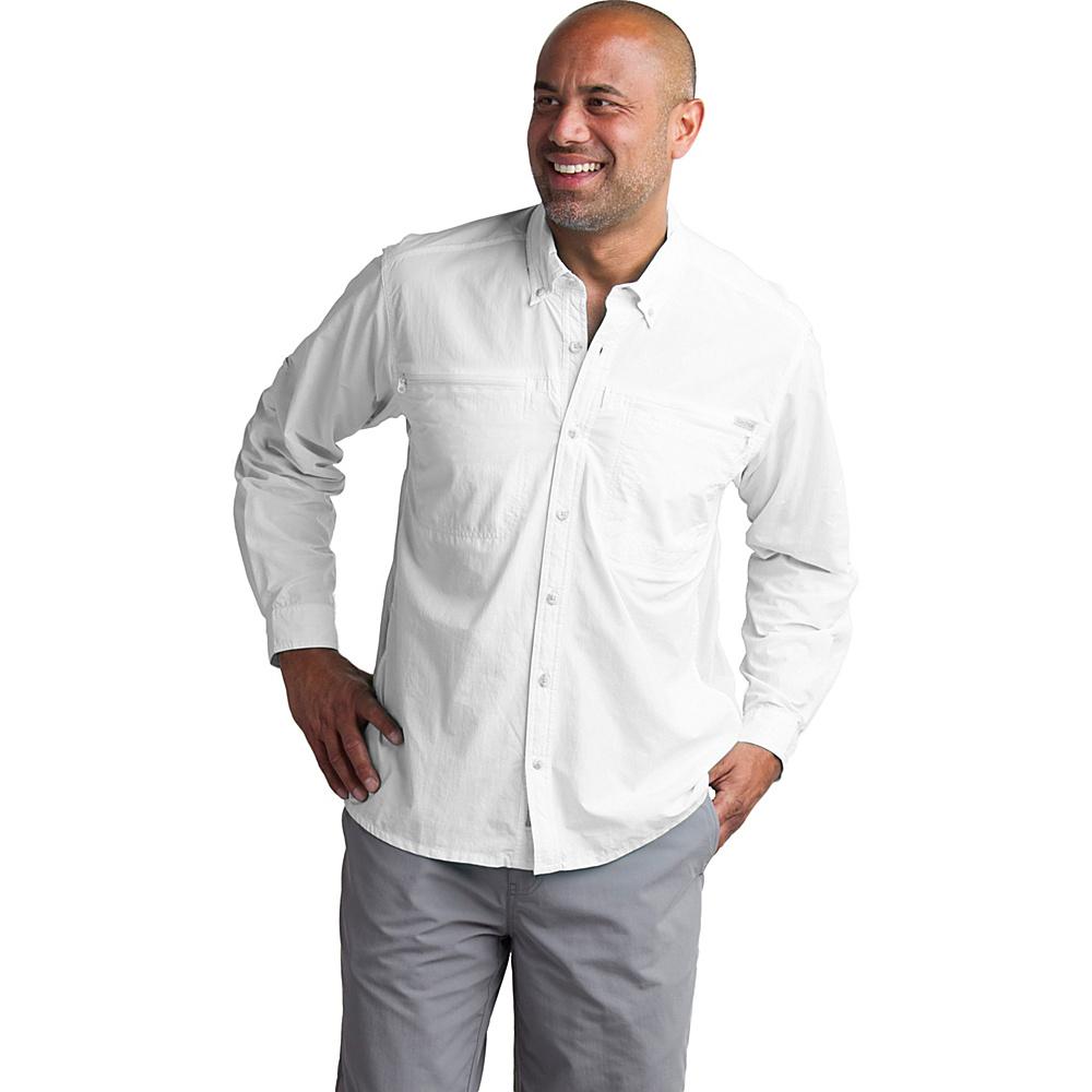 ExOfficio Mens Atoll Long Sleeve Shirt L - White - ExOfficio Mens Apparel - Apparel & Footwear, Men's Apparel