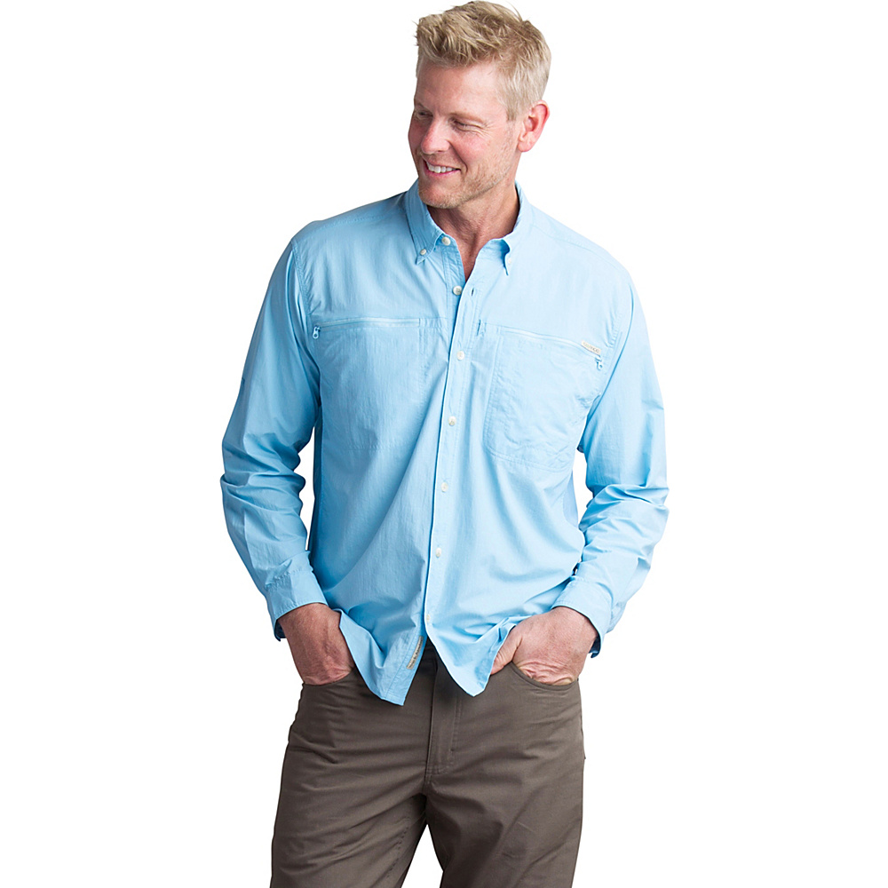 ExOfficio Mens Atoll Long Sleeve Shirt L - Sky - ExOfficio Mens Apparel - Apparel & Footwear, Men's Apparel