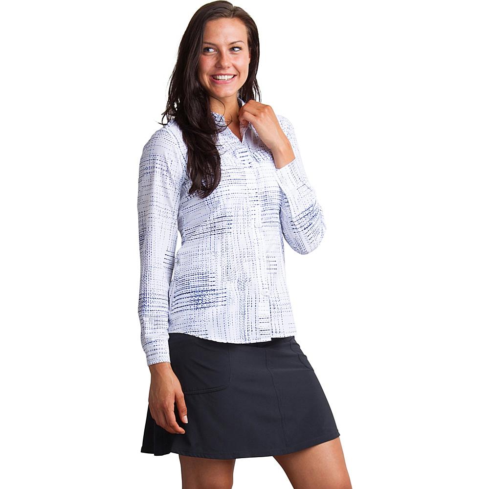 ExOfficio Womens Airhart Long Sleeve Shirt S - Blue Glaze - ExOfficio Womens Apparel - Apparel & Footwear, Women's Apparel