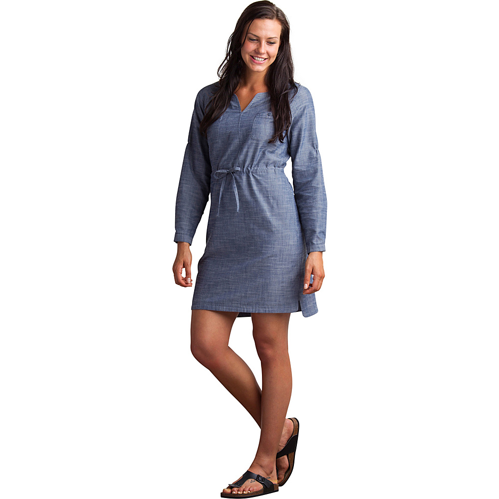 ExOfficio Womens Sol Cool Chambray Dress M - Indigo - ExOfficio Womens Apparel - Apparel & Footwear, Women's Apparel