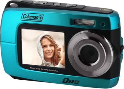 Coleman Duo2 18.0 MP HD Underwater Digital & Video Camera with Dual LCD Screens Blue - Coleman Cameras
