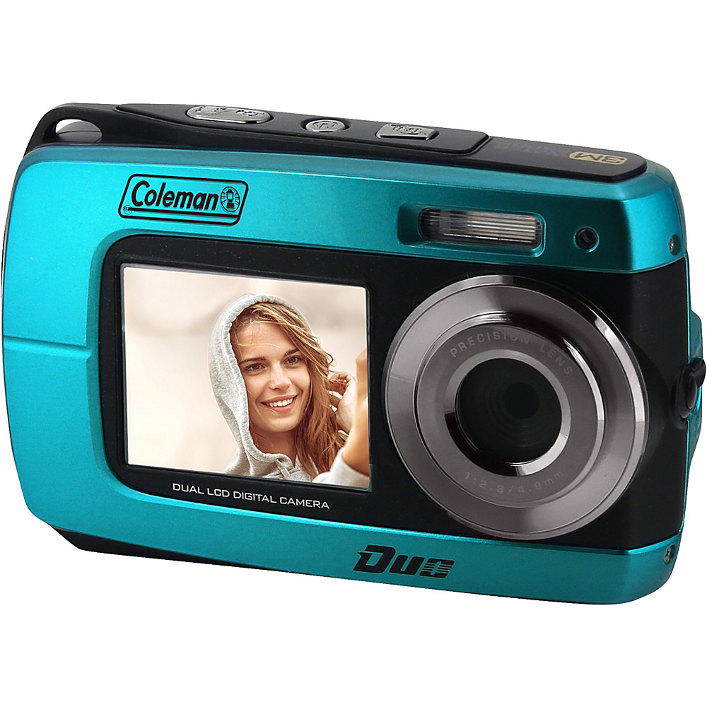 Coleman Duo2 18.0 MP HD Underwater Digital Video Camera with Dual LCD Screens Blue Coleman Cameras
