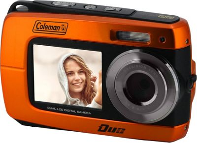 Coleman Coleman Duo2 18.0 MP HD Underwater Digital & Video Camera with Dual LCD Screens Orange - Coleman Cameras