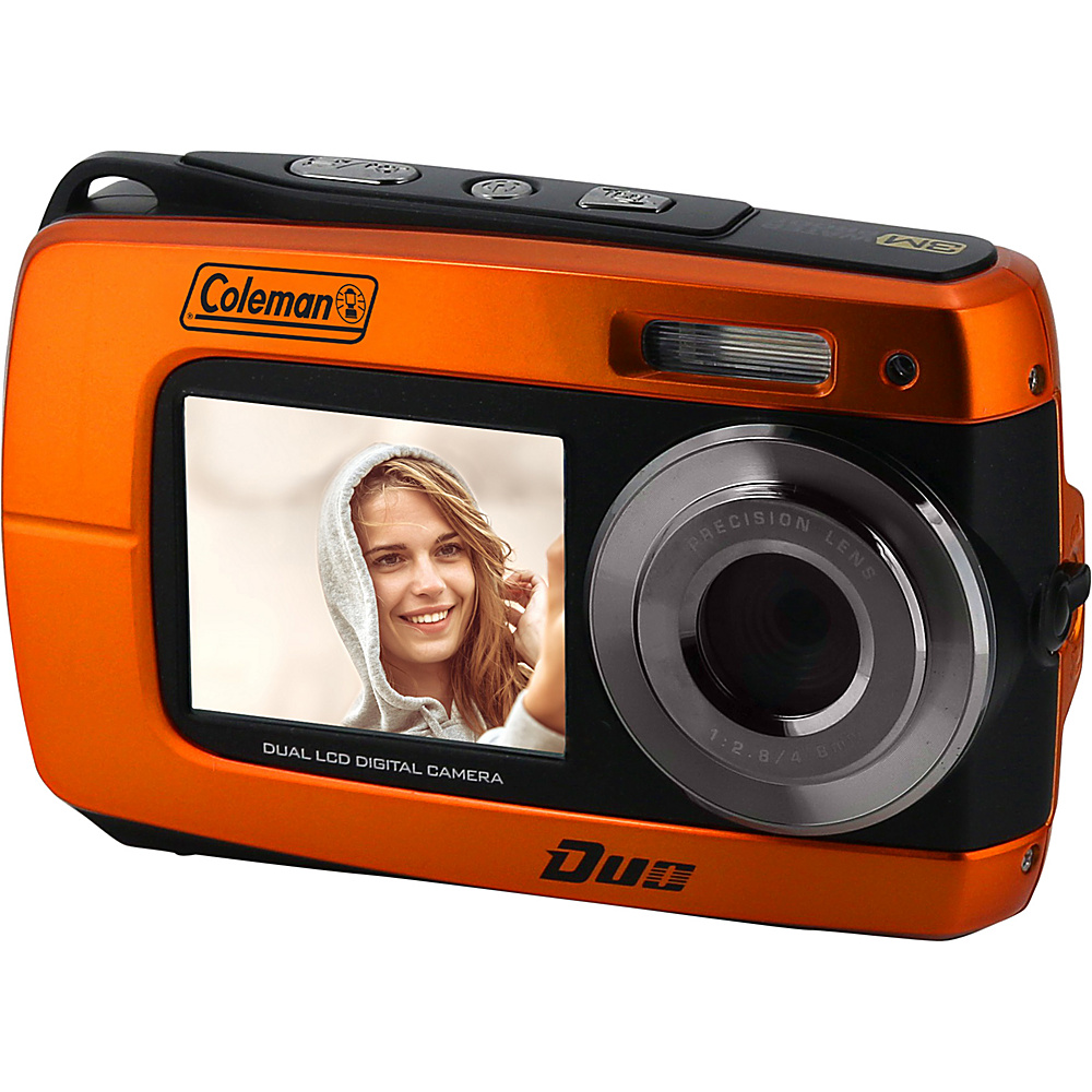 Coleman Duo2 18.0 MP HD Underwater Digital Video Camera with Dual LCD Screens Orange Coleman Cameras
