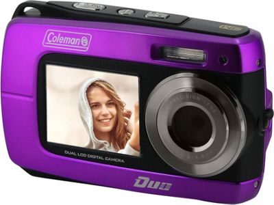 Coleman Duo2 18.0 MP HD Underwater Digital & Video Camera with Dual LCD Screens Purple - Coleman Cameras