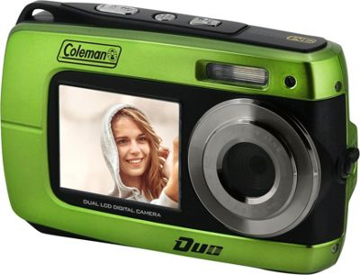 Coleman Coleman Duo2 18.0 MP HD Underwater Digital & Video Camera with Dual LCD Screens Green - Coleman Cameras