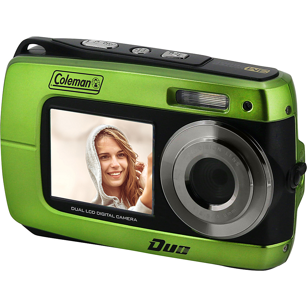Coleman Duo2 18.0 MP HD Underwater Digital Video Camera with Dual LCD Screens Green Coleman Cameras