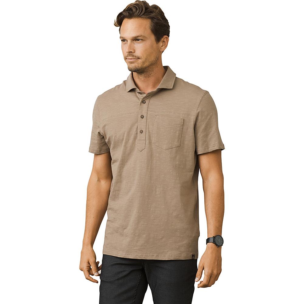PrAna Slugger Polo Shirt S - Dark Khaki - PrAna Mens Apparel - Apparel & Footwear, Men's Apparel