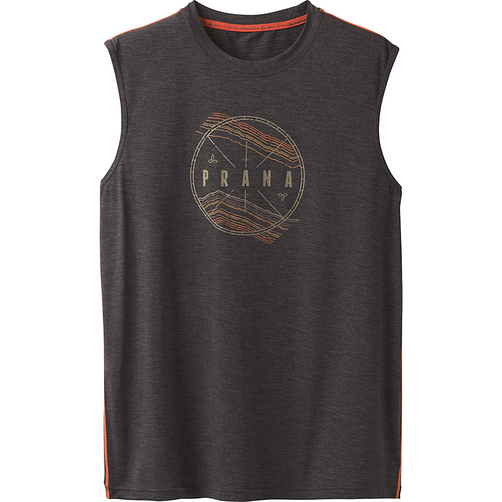 PrAna Calder Sleeveless Sun Top M - Charcoal - PrAna Mens Apparel - Apparel & Footwear, Men's Apparel