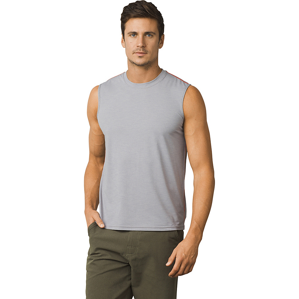 PrAna Calder Sleeveless Sun Top M - Grey - PrAna Mens Apparel - Apparel & Footwear, Men's Apparel
