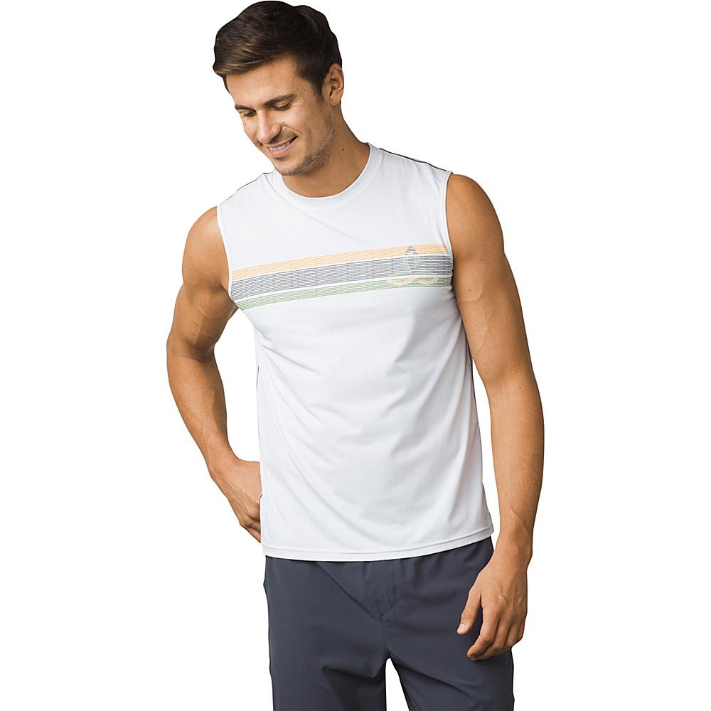 PrAna Calder Sleeveless Sun Top L - White - PrAna Mens Apparel - Apparel & Footwear, Men's Apparel