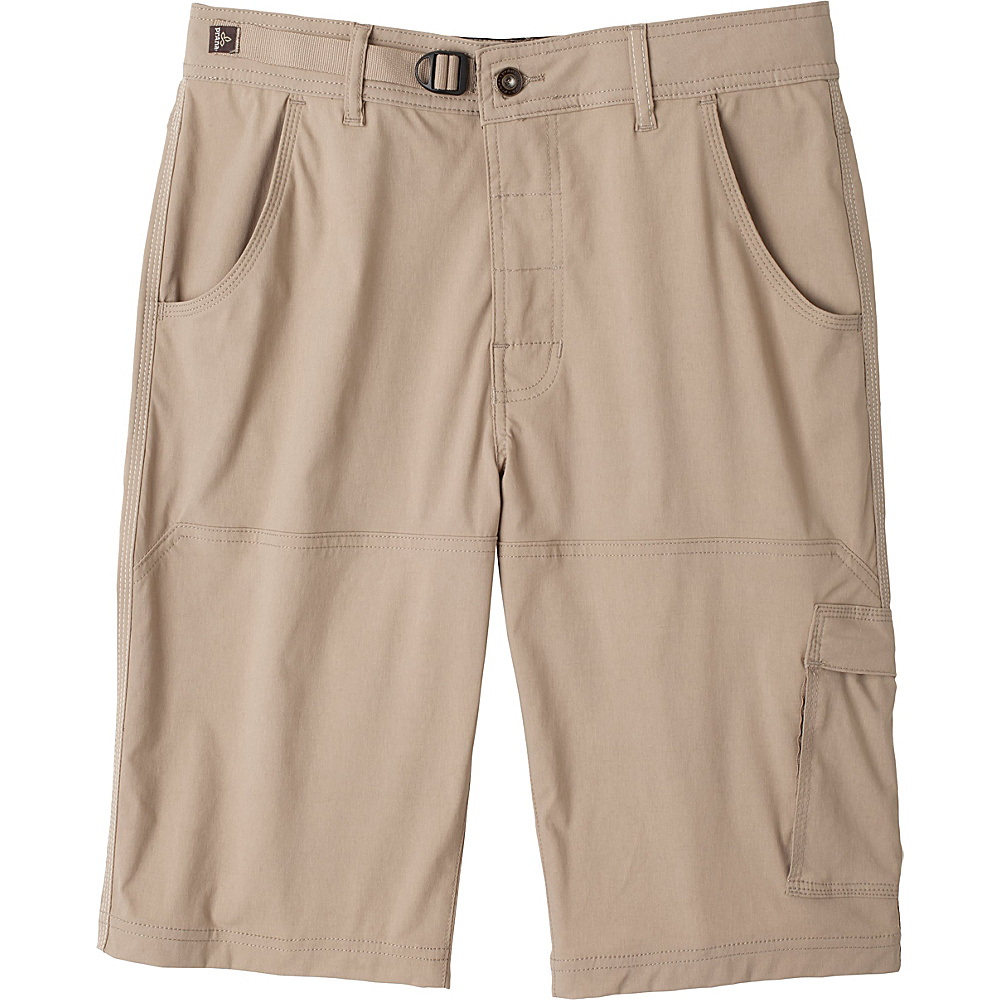 PrAna Stretch Zion Short - 10 Inseam 33 - 10in - Dark Khaki - PrAna Mens Apparel - Apparel & Footwear, Men's Apparel