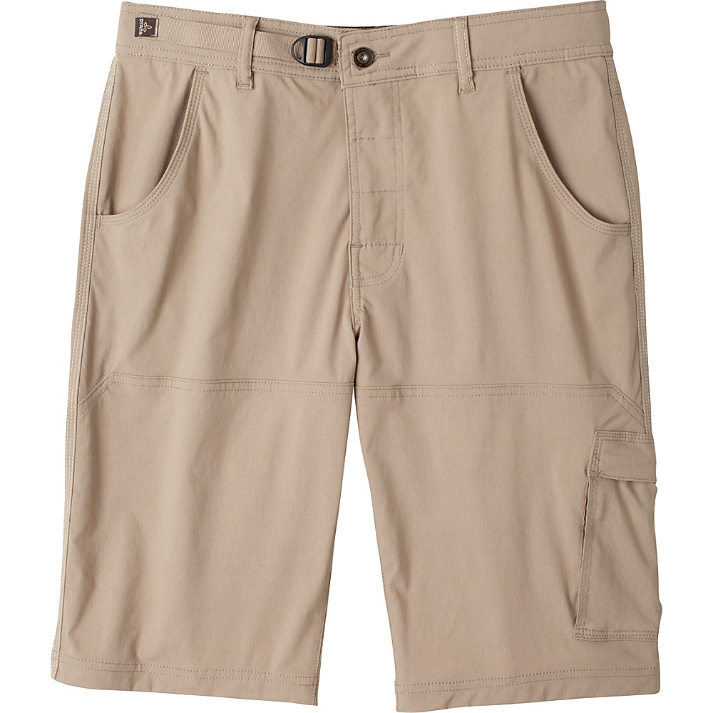 PrAna Stretch Zion Short - 10 Inseam 30 - 10in - Dark Khaki - PrAna Mens Apparel - Apparel & Footwear, Men's Apparel